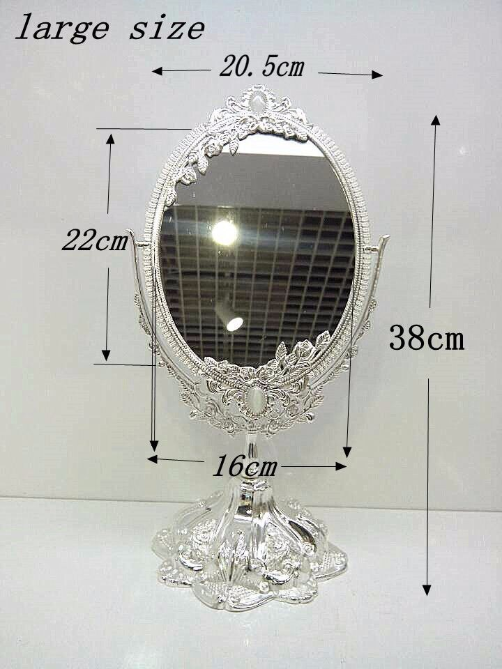 360 degree magnifying rotating princess women sex products double-face desktop table dressing cosmetic makeup mirror J009